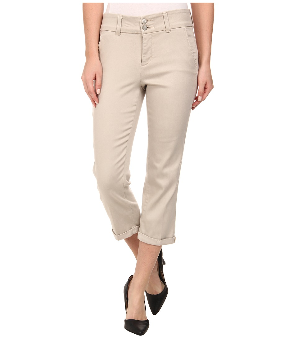 NYDJ - Izzie Crop Tencel Twill (Stone) Women's Casual Pants