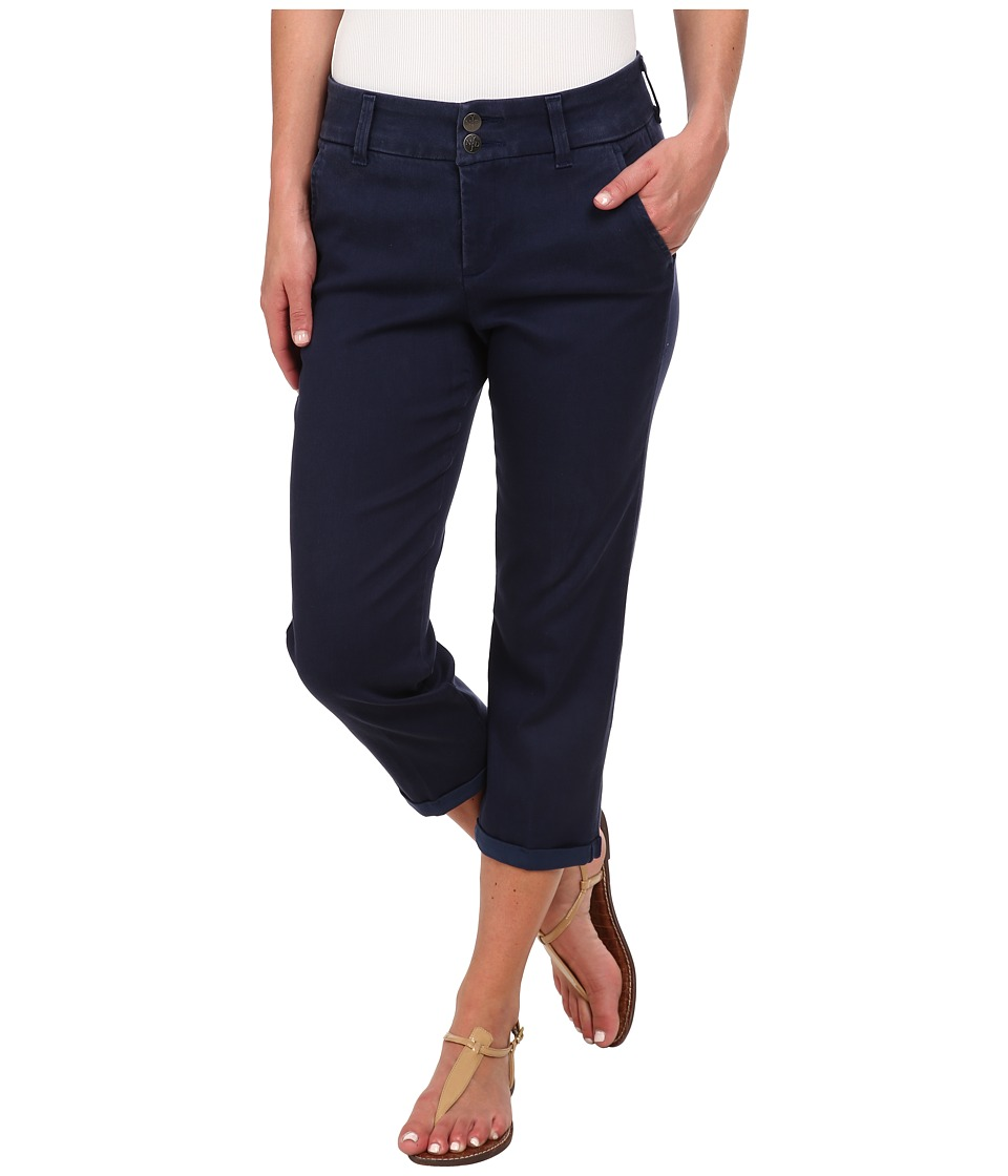 NYDJ - Izzie Crop Tencel Twill (Oxford Blue) Women's Casual Pants