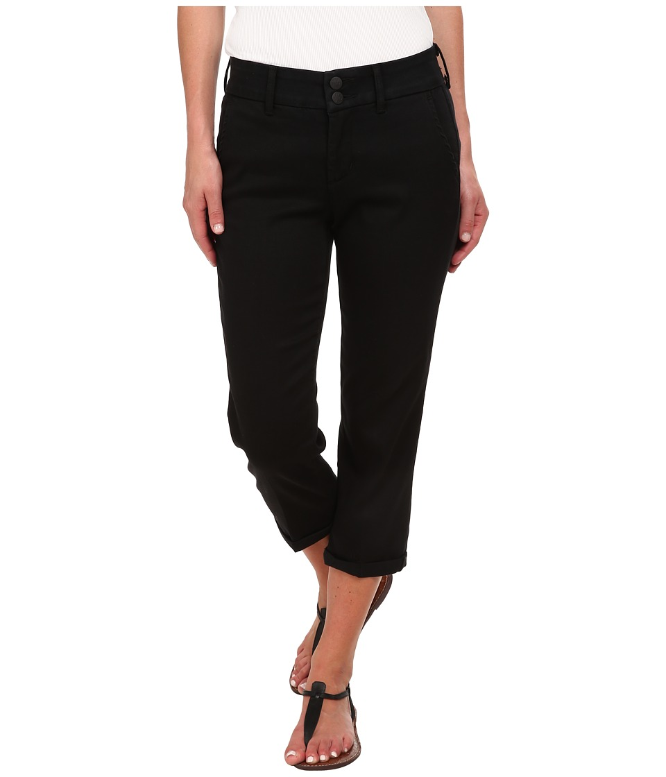 NYDJ - Izzie Crop Tencel Twill (Black) Women's Casual Pants