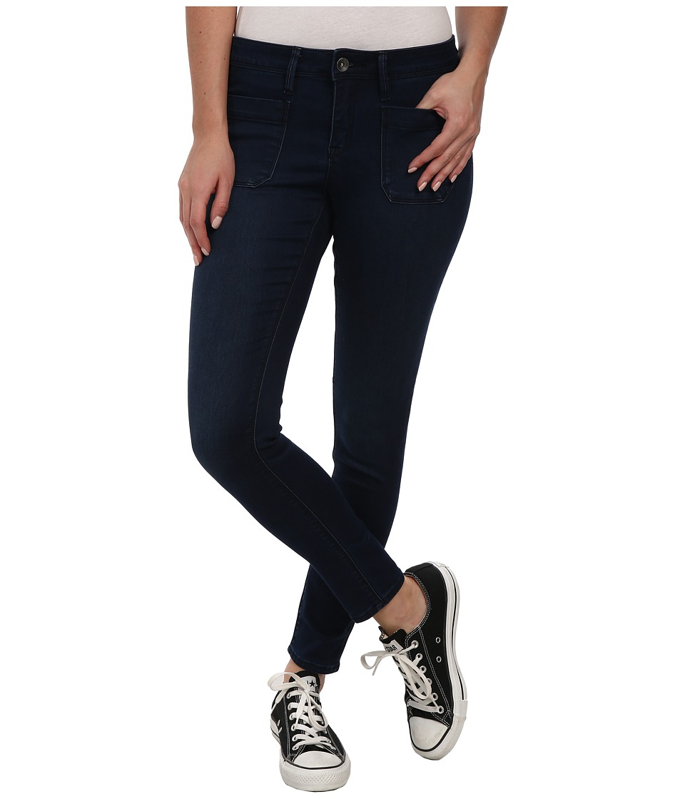 Roxy - Pixie Skinny Mid Waist Pant (Dark Blue) Women