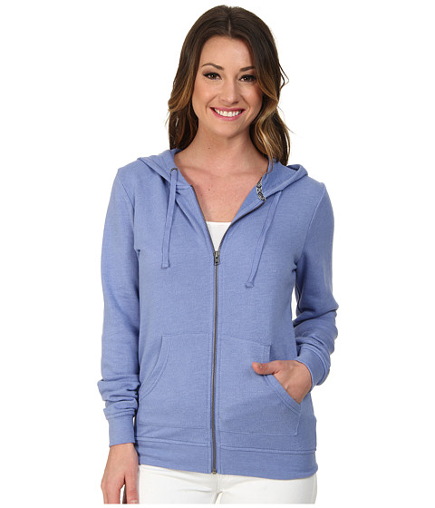 Roxy - New Signature Zip Hoodie (Light Denim) Women's Sweatshirt