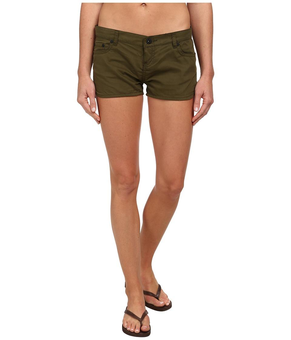 Hurley - Dri-Fit Beachrider 5 Pocket Short (Faded Olive) Women's Shorts