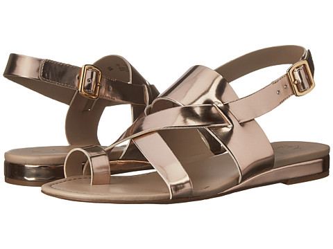 Franco Sarto - Gia (Platino Synthetic Liquid Metallic) Women's Sandals