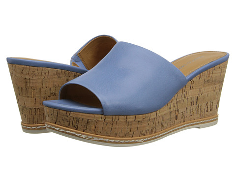 Franco Sarto - Caty (Misty Blue Leather) Women's Wedge Shoes