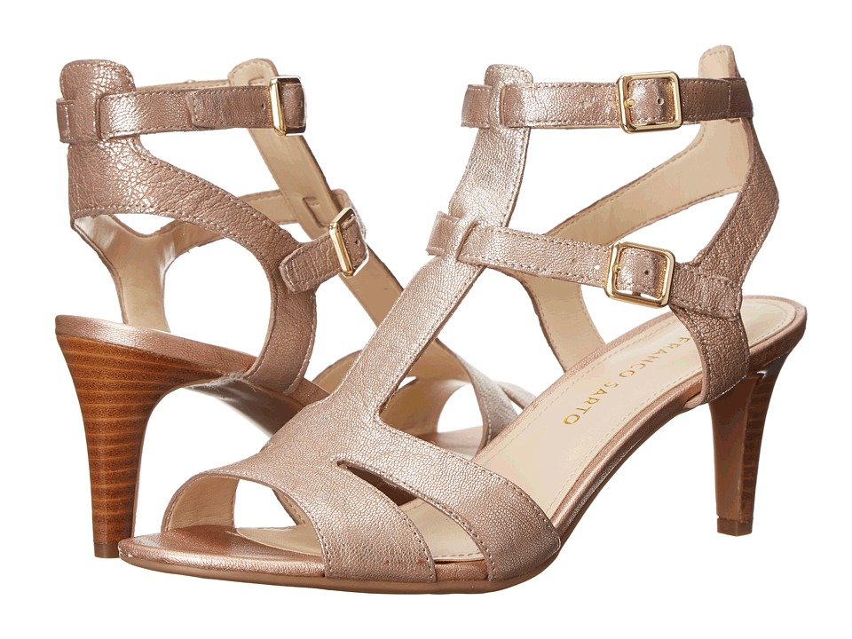 Franco Sarto Endear (Blush Metallic Washed Leather) High Heels