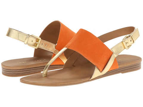 Franco Sarto - Gesso (Orange Nubuck Leather/Metal Synthetic) Women's Sandals