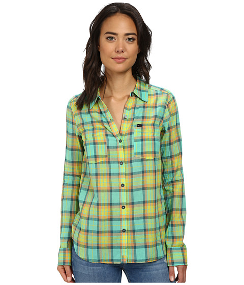 Hurley - Wilson L/S Button Up (Green Glow) Women