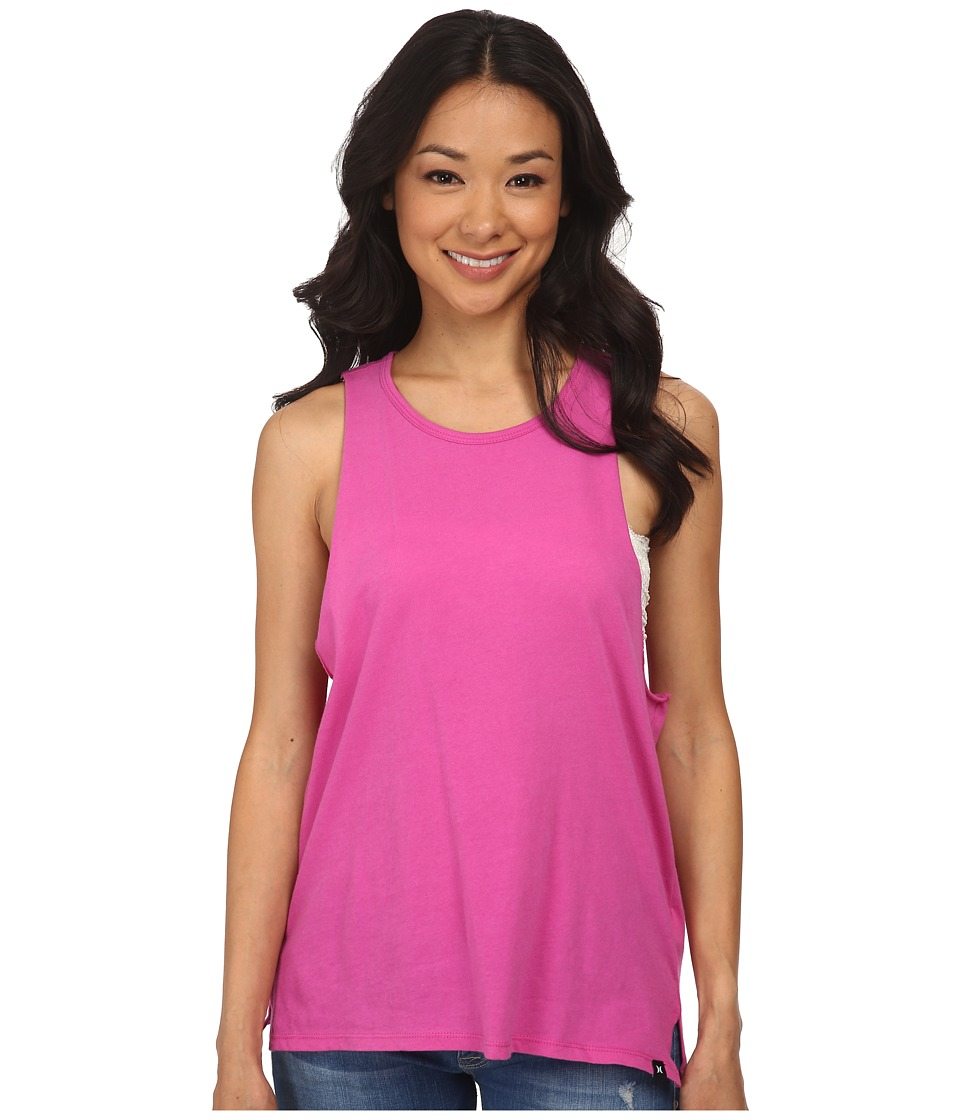 Hurley - Solid Riot Biker Tank (Fuchsia Flash) Women