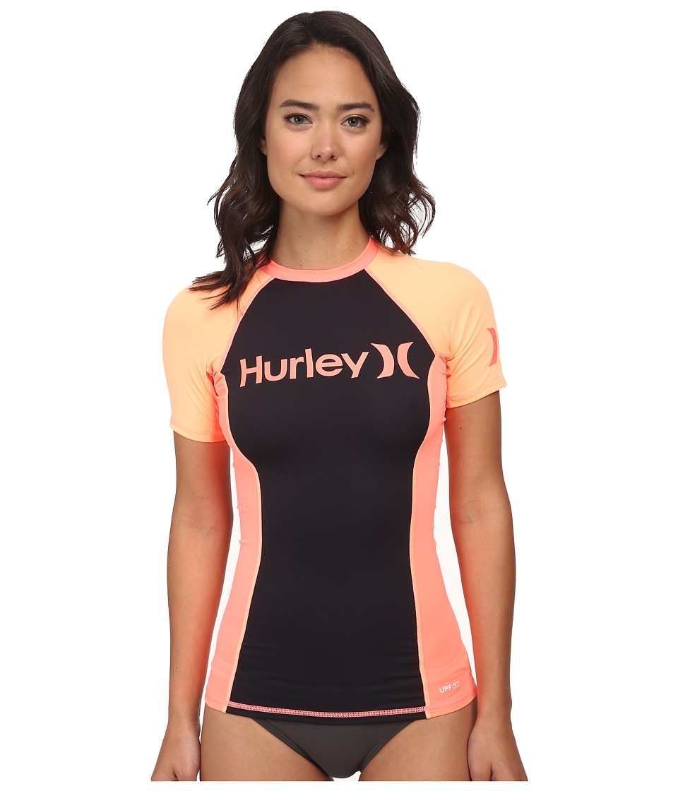 Hurley - One Only S/S Rashguard (Lava Glow) Women's Swimwear