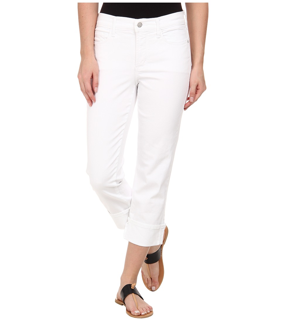 NYDJ - Dayla Wide Cuffed Capri (Optic White) Women's Jeans