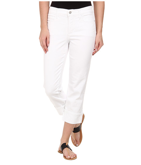 NYDJ - Dayla Wide Cuffed Capri (Optic White) Women's Casual Pants