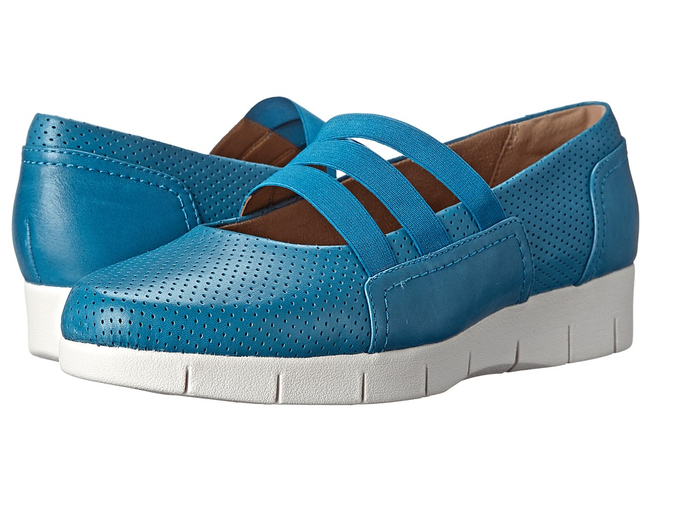 Clarks - Daelyn City (Turquoise Leather) Women's Shoes