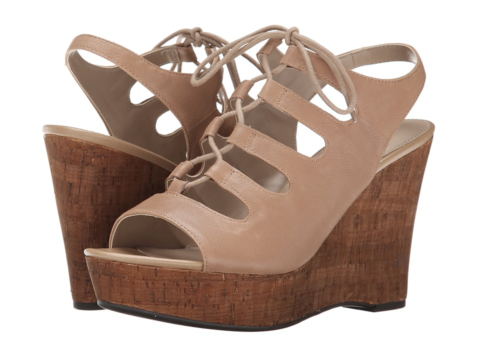 Franco Sarto - Sunitha (Taupe Leather) Women's Wedge Shoes