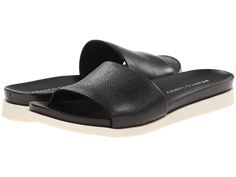 Franco Sarto - Lumia (Black Soft Nappa Leather) Women's Slide Shoes