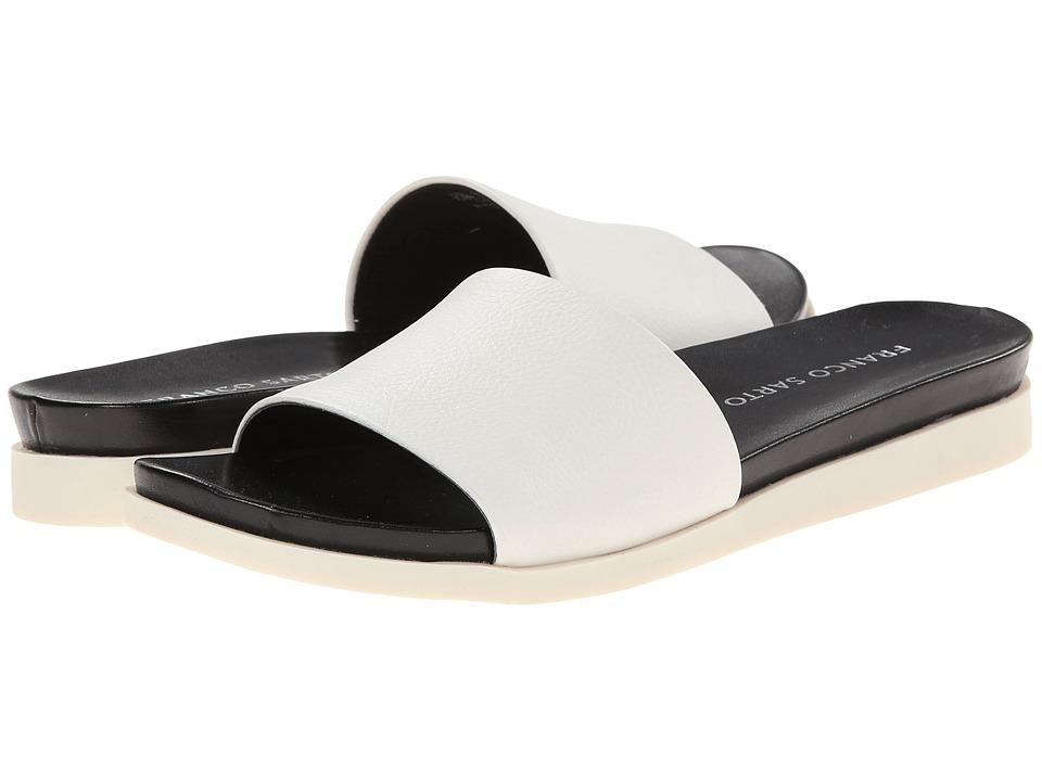 Franco Sarto - Lumia (White Soft Nappa Leather) Women's Slide Shoes