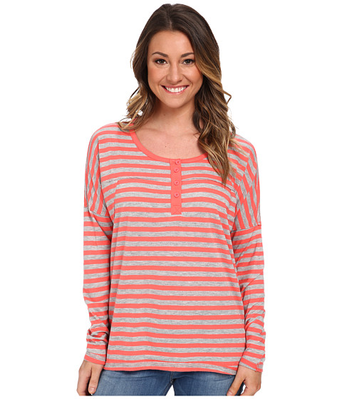 Volcom - Hello Again L/S Top (Electric Coral) Women's Long Sleeve Pullover