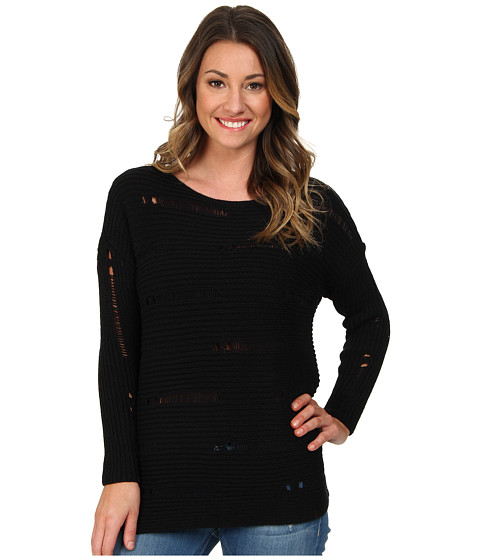 Volcom - Easy Does It Sweater (Black) Women's Sweater