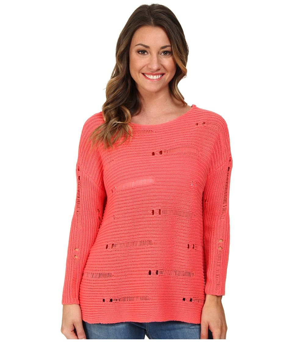 Volcom - Easy Does It Sweater (Electric Coral) Women's Sweater
