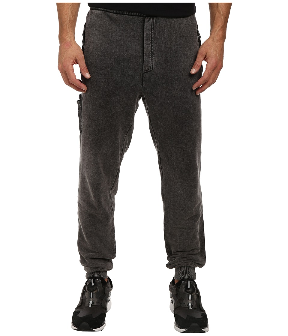 Members Only - French Terry Jogger Pant w/ Vegan Leather Side Pocket (Black) Men