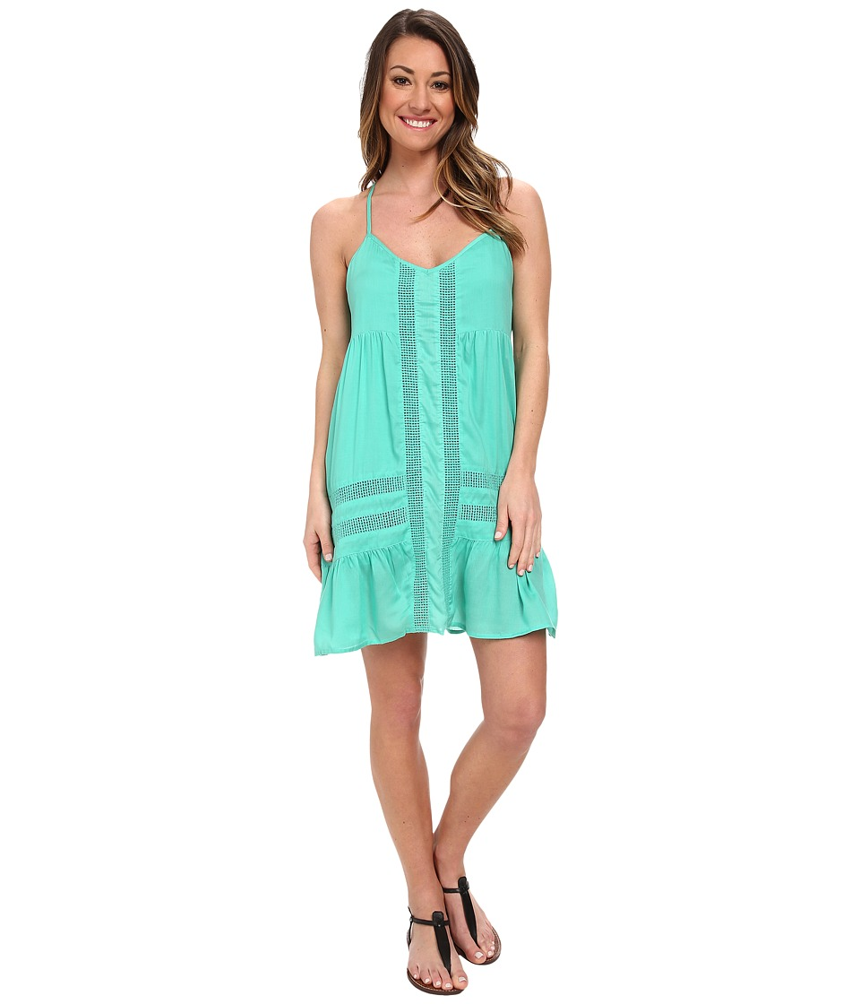 Volcom - Cool Breeze Dress (Green Spray) Women