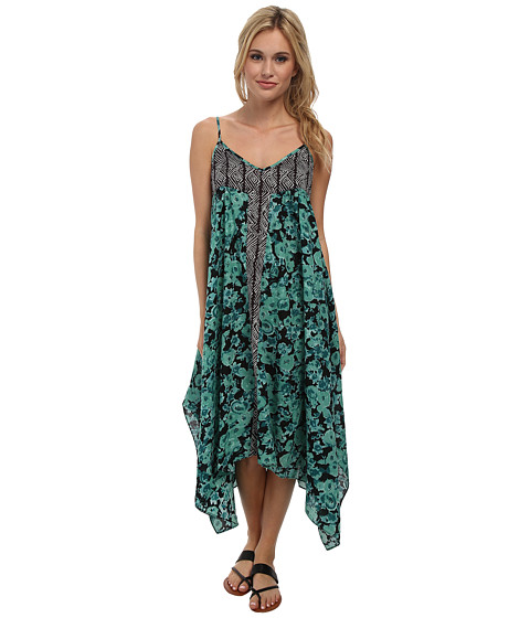 Volcom - Chance Are Dress (Green Spray) Women