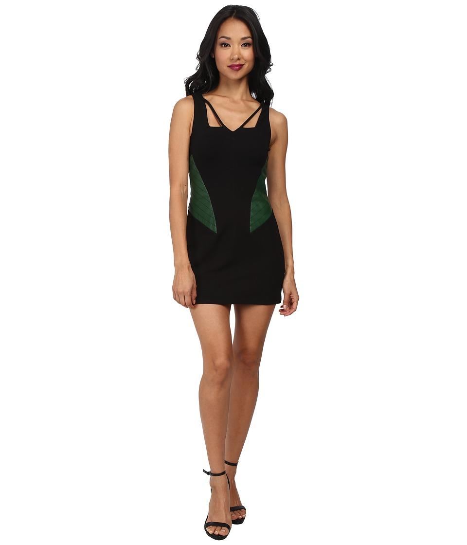 KAS New York Helene Dress (Black/Green) Women