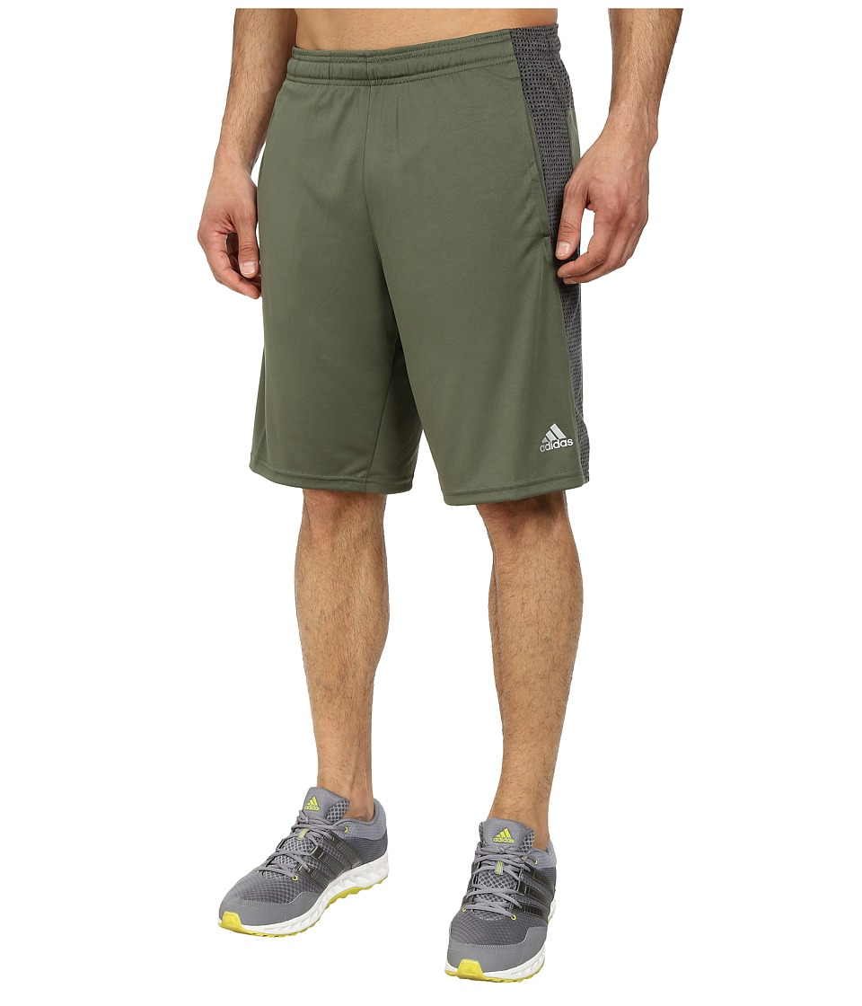 adidas - Aeroknit Short (Black/Base Green Heather) Men's Shorts