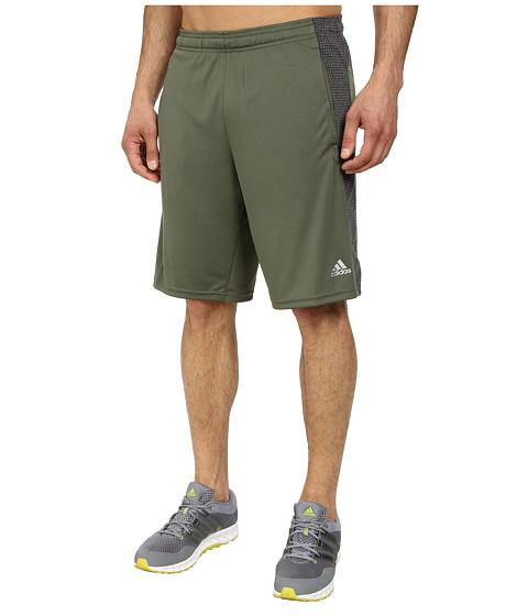 adidas - Aeroknit Short (Black/Base Green Heather) Men's Shorts
