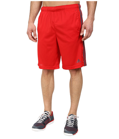 adidas - Essentials 3S Short (Scarlet/Bold Onix) Men's Shorts