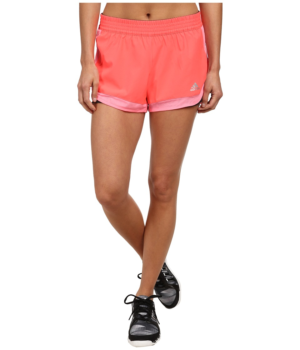 adidas - 2-in-1 Woven Short (Flash Red/Light Flash Red/Matte Silver) Women's Shorts