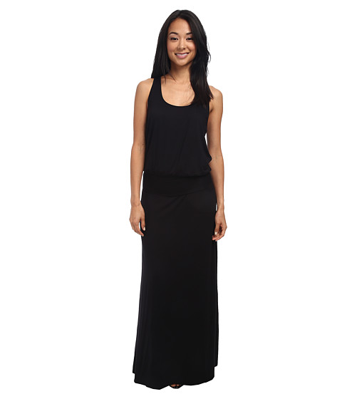 Three Dots - Visc Lycra Maxi Dress (Black) Women's Dress