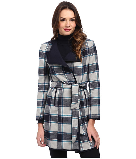 Jones New York - Doubleface Long Coat (Navy Multi) Women
