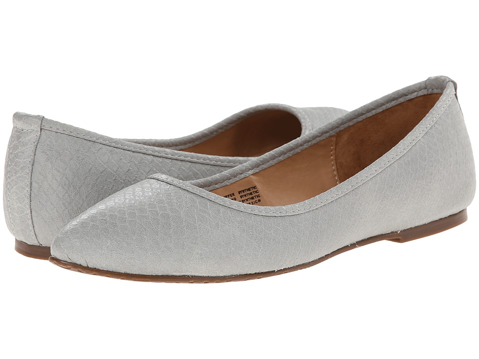 Gabriella Rocha - Pointy Flat (Grey Snake Leather) Women