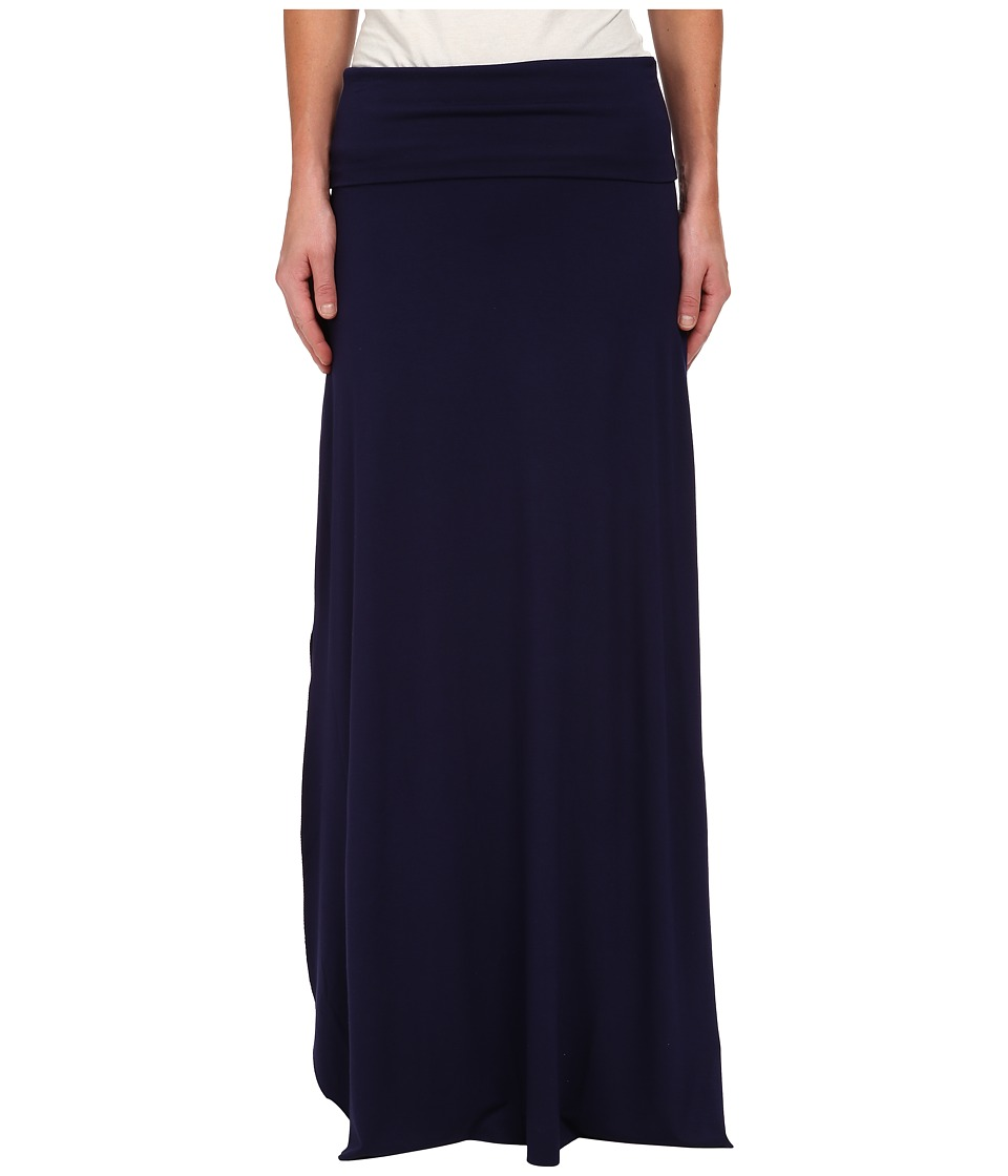 Three Dots - Maxi Skirt w/ Side Slits (Evening Blue) Women's Skirt plus size,  plus size fashion plus size appare