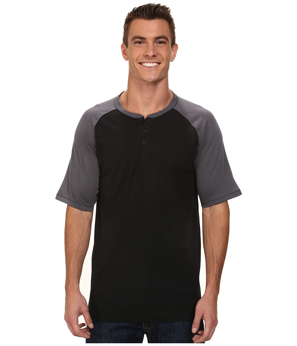 Hurley - Dri-Fit Main Henley (Black) Men's T Shirt