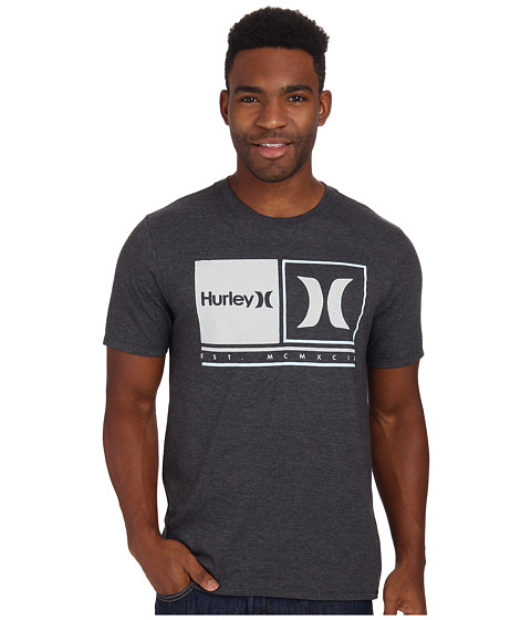 Hurley - Call It Tee (Heather Black) Men's T Shirt