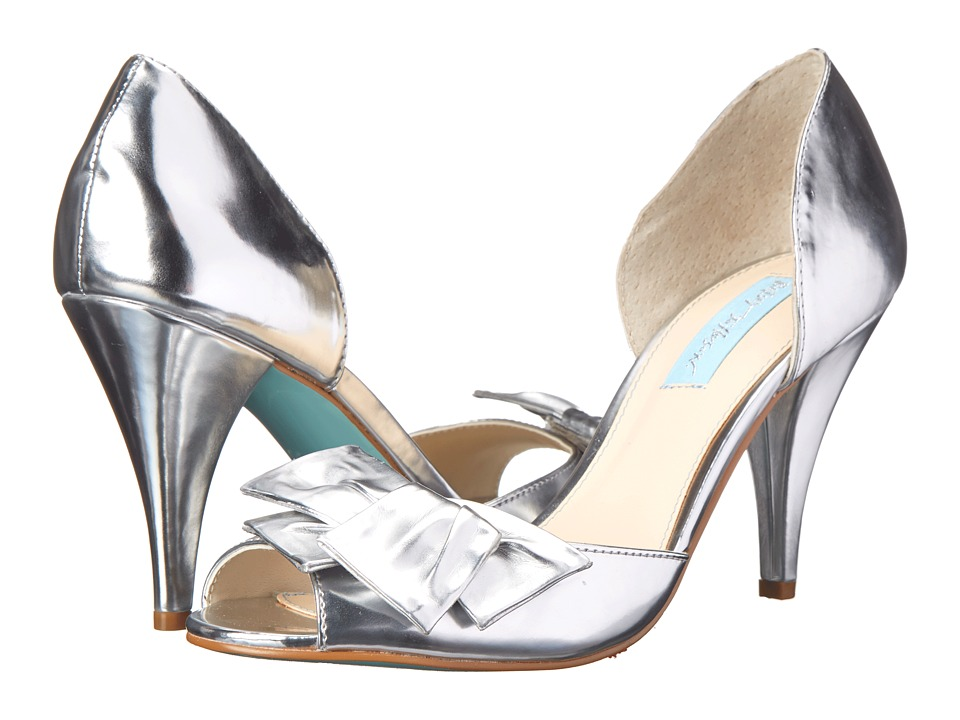 Blue by Betsey Johnson Lily (Silver Metallic) High Heels