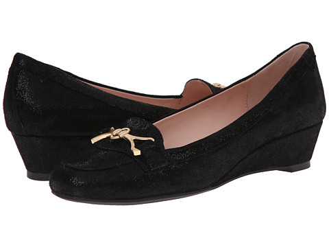 Taryn Rose - Palmer (Black Print Pattern Suede) Women's Shoes