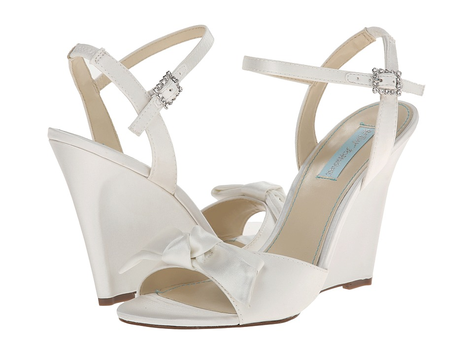 Blue by Betsey Johnson - Daisy (Ivory Satin) Women's Wedge Shoes