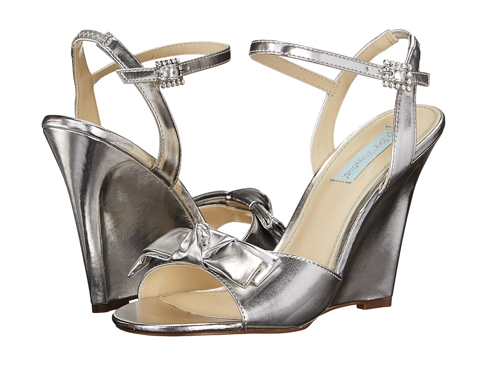 Blue by Betsey Johnson - Daisy (Silver Metallic) Women's Wedge Shoes