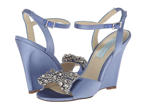 Blue by Betsey Johnson - Dress (Blue Fabric) Women's Wedge Shoes