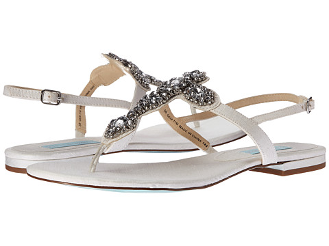 Blue by Betsey Johnson - Gem (Ivory Satin) Women's Sandals
