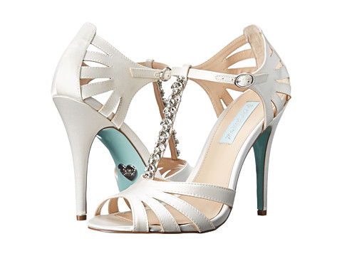 Blue by Betsey Johnson - Song (Ivory Satin) High Heels