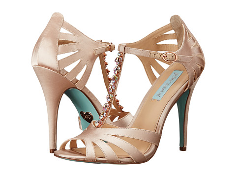 Blue by Betsey Johnson - Song (Champagne Satin) High Heels