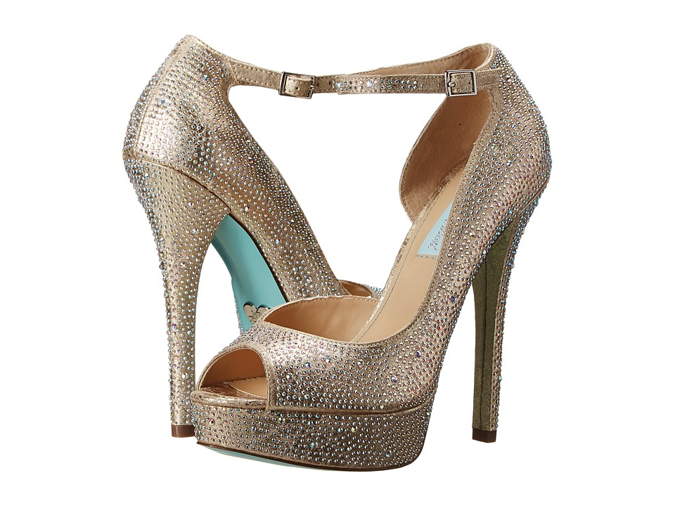Blue by Betsey Johnson - Ivy (Champagne Fabric) High Heels