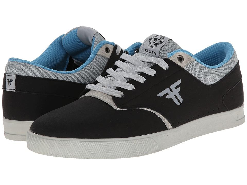 Fallen - The Vibe (Flat Black/Newsprint Grey) Men's Skate Shoes