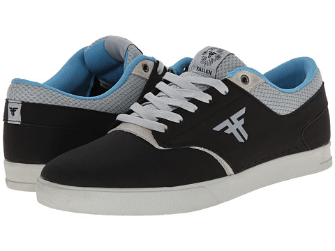 Fallen - The Vibe (Flat Black/Newsprint Grey) Men's Skate Shoes