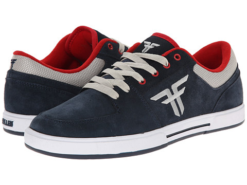 Fallen - Patriot III (Midnight Blue/Newsprint Grey) Men's Skate Shoes