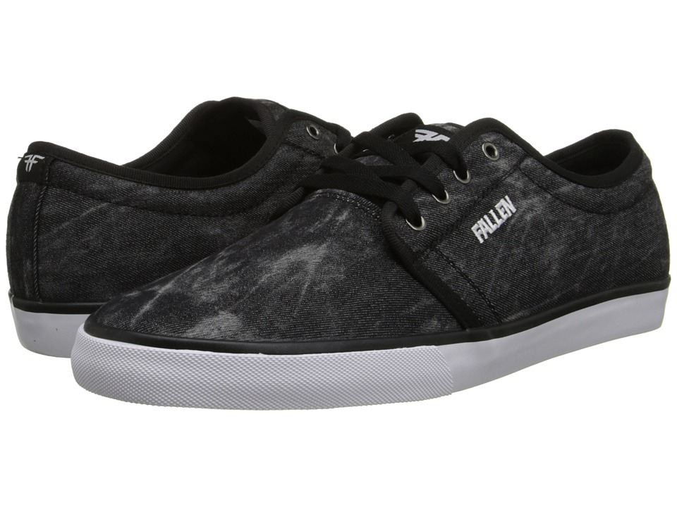 Fallen - Forte 2 (Black Chambray/Black) Men's Skate Shoes
