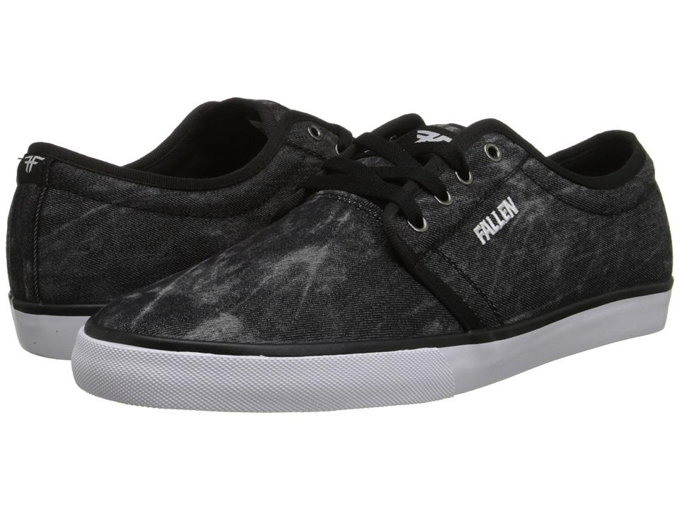 Fallen - Forte 2 (Black Chambray/Black) Men's Skate Shoes